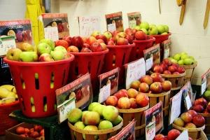 apple bounty at the Trenton Farmer's Market